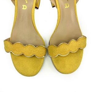 Unisa Shoes - Unisa Yello Ruffle Strappy Ankle Strap Sandals 6.5